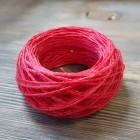 Нитки для шитья кожи вощёные, плетёные URSA. Полиэстер 30 метров, толщина 1.0 Цвет - Красная.