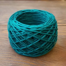 Нитки для шитья кожи вощёные, плетёные URSA. Полиэстер 30 метров, толщина 1.2 Цвет - Павлин.