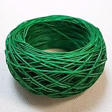 SLAM нитки для кожи. 30 м. 0.6 мм. Цвет - зелёный.
