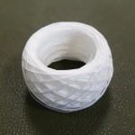 Нитки для шитья кожи вощёные, плетёные SLAM. Полиэстер 30 метров, толщина 1.0 мм. Цвет - белый.