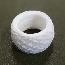 SLAM нитки для кожи. 30 м. 1.0 мм. Цвет - белый.