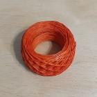 Нитки для шитья кожи вощёные, плетёные URSA. Полиэстер 30 метров, толщина 1.0 Цвет - Рыжий.