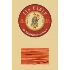 Нитки для кожи льняные FIL AU CHINOIS 0.63 мм. 10 метров. Цвет 419 - Oranger.