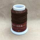 Нитки для кожи кручёные из полиэстера. Жирно вощёные. Seiwa made in Japan, 1 мм. 50 метров. Коричневый.