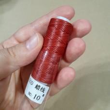 ПЛОСКИЙ ВОСК нитки для кожи. 30 м. 0.8 мм. бордовый РАСПРОДАЖА!!!