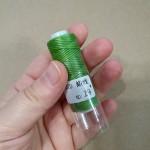 ПЛОСКИЙ ВОСК нитки для кожи. 30 м. 0.8 мм. зелёный РАСПРОДАЖА!!!