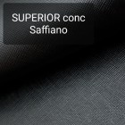 Кожа галантерейная КРС 1 сорт, сафьяно Conceria Superior 1.3 мм. 33x45 см. Чёрный.