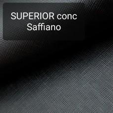 Кожа галантерейная КРС 1 сорт, сафьяно Conceria Superior 1.3 мм. 30х80 см. Чёрный.