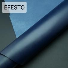 Кожа галантерейная теленок EFESTO синий, ДВОЁНЫЙ до 0.6 мм. отрез 26х77 см.