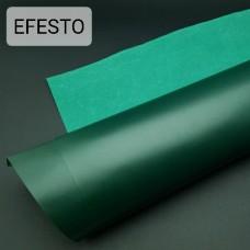 Кожа галантерейная теленок EFESTO зелёный, ДВОЁНЫЙ до 0.6 мм. отрез 24х73 см.