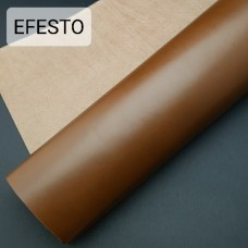Кожа галантерейная теленок EFESTO коричневый, ДВОЁНЫЙ до 0.8 мм. отрез 21х82 см.