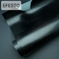 Кожа галантерейная теленок EFESTO чёрный, ДВОЁНЫЙ до 0.8 мм. отрез 24х88 см.