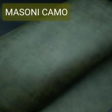 Кожа галантерейная теленок MASONI CAMO тёмно-зелёный камуфляж 1.5 мм. отрез 35х69 см.