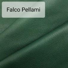 Кожа козлёнок галантерейная 1 сорт (ручная сортировка), FALCO PELLAMI зелёный 65 кв.дец.