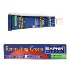 Жидкая кожа. Средство для реставрации изделий из кожи SAPHIR Renovating Cream 25 мл. Argent (серебро).