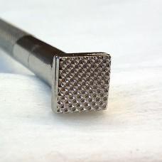 """Штамп для тиснения по коже """"Плитка G619"""" 10х10 мм."""