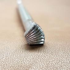 """Штамп для тиснения по коже """"F918"""" 8х10 мм. Фоновый штамп для забивания фактуры травы, тычинок."""