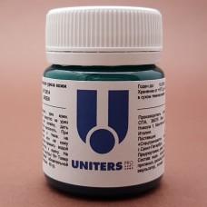 Краска для уреза кожи UNITERS GREEN матовый зелёный 40 гр.