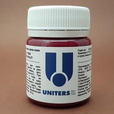 Краска для уреза кожи UNITERS RED VIOLET матовый бордовый 40 гр.