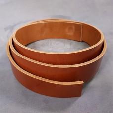 Заготовка для ремня РМД светло-коричневый цвет 45 мм. 130 см. широкая.